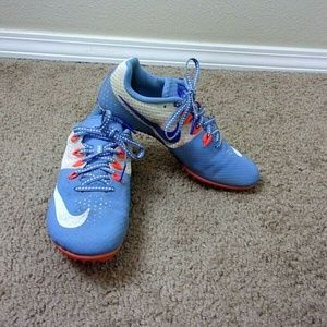 Nike Rival S Sprint Shoes Blue Orange Accents